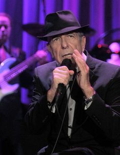 Leonard Cohen. Thanks ever so much for your music.