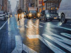 Realist oil NYC paintings and artist's new series with nature and botanicals New Series, New York City, Nyc, Studio, Street, Canvas, Nature, Artist, Painting