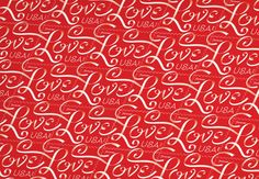 Jessica Hische's Love Stamp #pattern for the USPS — The U.S.P.S. issued our new Love stamp just in time for Valentine's Day. At 1.2″ x .9″ and 250 million impressions, this is the smallest thing we have ever designed, with the largest print run.