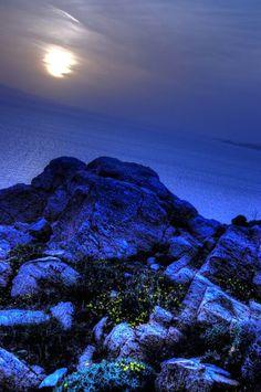 Ocean view sunset