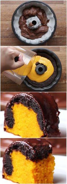 Bolo de cenoura fofinho com uma camada de brownie… O MELHOR DO MUNDO! (veja a receita passo a passo) #bolo #brownie #bolodecenoura #chocolate