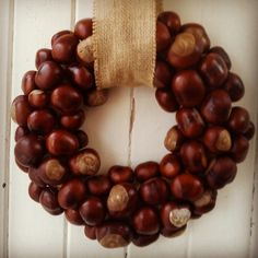 Conker Wreath made by Flowers by Juliette