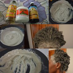 DIY: Bentonite Clay Hair Mask - Black Zulu You are in the right place about gender neutral haircut s Bentonite Clay Mask Hair, Clay Hair Mask, Afro Hair Mask, Bentonite Clay Benefits, Hair Masks, Natural Hair Tips, Natural Hair Styles, Natural Hair Treatments, Natural Hair Regimen