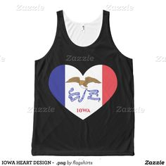 IOWA HEART DESIGN -  png All-Over Print Tank Top Tank Tops