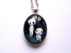 Princess Mononoke -Kodama- Pendant. Necklace.