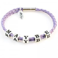 Bracelet MAYBE, LETTERS collection, silver versionhttp://store.lovya.net/letters-from-your-heart-bransoletki/204-bransoletka-maybe-z-kolekcji-letters-wersja-srebrna.html