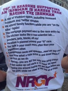 I could not resist posting this, as it comes as a timely reminder to those attempting their first (certainly not last) Ironman triathlon. Ironman Triathlon Motivation, Triathlon Training Program, Triathlon Gear, Training Programs, Running Inspiration, Fitness Inspiration, Ironman Lake Placid, Triathlon Tattoo, Half Ironman