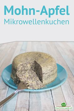 Poppy seed apple microwave cake - What do you think of a piece of fluffy poppy-apple cake? It can be prepared really quickly in the m - Microwave Cake, Apple Cake, Butter Dish, Food And Drink, Low Carb, Snacks, Vegan, Baking, Sweet