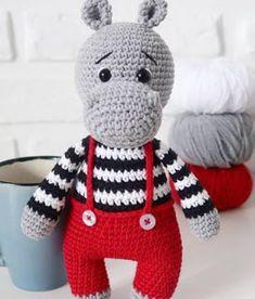 Mesmerizing Crochet an Amigurumi Rabbit Ideas. Lovely Crochet an Amigurumi Rabbit Ideas. Crochet Motifs, Crochet Doll Pattern, Crochet Patterns Amigurumi, Amigurumi Doll, Crochet Dolls, Amigurumi Minta, Crochet Hippo, Crochet Teddy, Cute Crochet