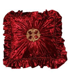 ACCENT PILLOWS: Order today, yours in about a week!  Luxury Accent Pillows Ang #1/RED...(20x20 not incl. ruffle) by Reilly-Chance Collection