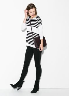 Horizontal-stripe sweater