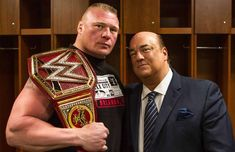 Fans haven't seen Brock Lesnar since he defended his Universal Championship against Roman Reigns at the Greatest Royal Rumble, but even though WWE hasn't confirmed the title defense just yet, he's expected to defend his title at SummerSlam. Brock Lesnar Wwe, Wwe Brock, Ufc, Paul Heyman, Catch, Royal Rumble, Wrestling News, Professional Wrestling, Wwe Wrestlers