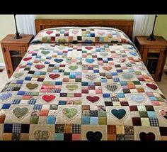 Linda colcha em patchwork