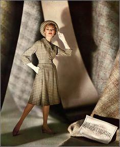 Jessica Ford, Forstmann ad, Harper's Bazaar, February 1959