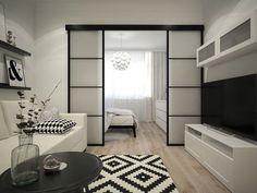 Condo Interior Design, Condo Design, Apartment Interior, House Design, Design Bedroom, Studio Apartment Layout, Studio Apartment Decorating, Small Condo Decorating, Studio Condo