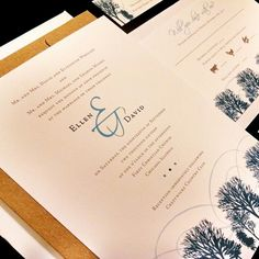Winter Flourish Pine Tree Custom Unique Wedding Invitation Pine Snow Mountain Outdoor Holiday Party Christmas Frozen Forest Modern Simple