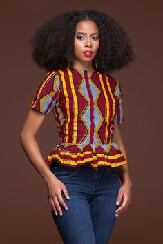 Kachi African Print Top|Grass-fields|
