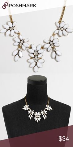 🎉Today's Deal 🎉J. Crew Floral Statement Necklace On sale today. Price firm. J. Crew Statement Necklace. Retail $54.50. Happy Poshing! J. Crew Jewelry Necklaces