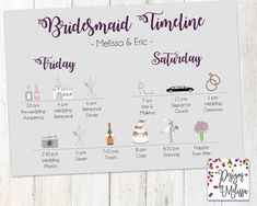 Wedding day timeline our big day timeline bridal party timeline wedding day timeline our big day timeline bridal party timeline wedding weekend timeline day of itinerary digital file timeline wedding junglespirit Choice Image