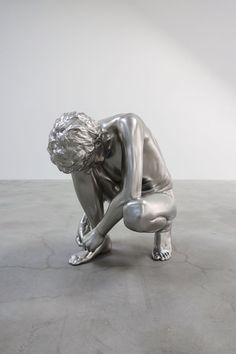 Charles Ray - Shoe Tie, 2012.