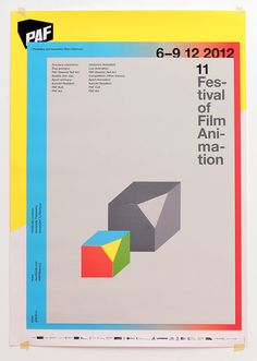 poster for PAF 2012 (czech Festival of Film Animation) / by Fiume Std