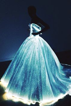Blue dress light prom