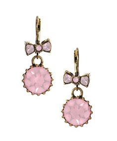 Betsy Johnson Crystal Drop Earrings
