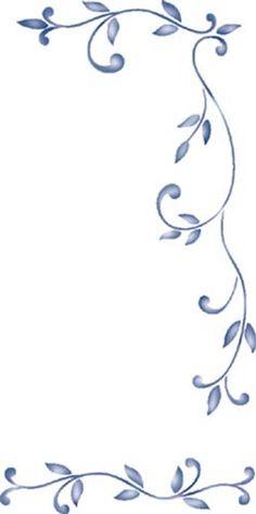 Small Stencil for Furniture Wall Stencil Border Design, Pattern Design, Stencils, Diy And Crafts, Arts And Crafts, Floral Border, Stencil Designs, Quilting Designs, Swirls