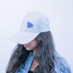 GAMENT 3D Printed Blue #Diamond Magnetic #Brooch on a grey baseball cap