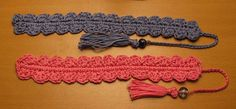 Crocheted Shell Bookmark by Armina Parnagian  This pattern is available as a free Ravelry download
