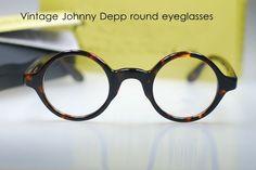 Retro Vintage Johnny Depp Designer Spectacle Frame Tortoise Round Eyeglasses | eBay