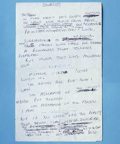 Ian Curtis handwritten lyrics to 'Isolation'  http://www.impactmerch.com/store/music/joy-division.html