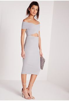 Damn girl, nice dress. Look jaw to the floor amaze in this cut out midi dress. This daring dress will be your new go to piece for the weekend and will ensure you turn heads. Featuring back zip fastening in a chic midi style with cut out det...