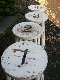 Numbered stools