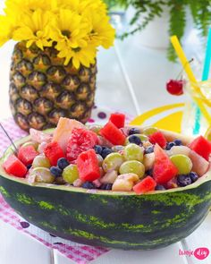 Grill Party, Fruit Salad, Serving Bowls, Watermelon, Grilling, Tableware, Diy, Recipes, Food
