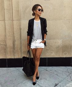 blazer and stripes | sincerelyjules