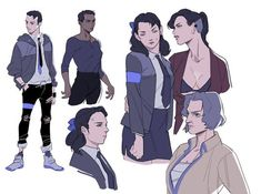 Detroit become human fem!versions: Connor, Markus, Hank and Kamski V Games, Best Games, Video Games, Quantic Dream, Detroit Become Human Connor, Monster Prom, Becoming Human, Rule 63, Cartoon Games