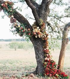 Floral tree installation