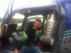 Willie with the Stanley Cup loaded on the Chopper!