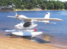 A beautiful design seaplane. Russian made. Only a few produced.