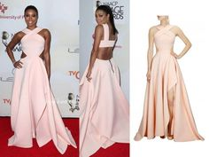 GET THIS LOOK  Gabrielle Union galms the red carpet in this gorgeous blushing hue gown by Gauri and Nainika.  #perniaspopupshop #shopnow #happyshopping