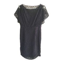 "Black dress Black lace dress with purple underlay. Only been worn once. Length = 31"" Chest = 32"" I accept offers and bundles. Dresses"