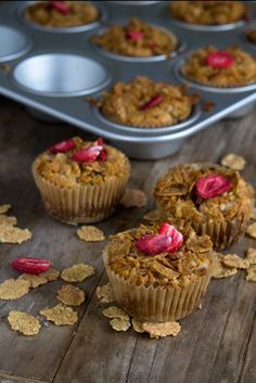 Banana Strawberry Crisp Muffins for Attune