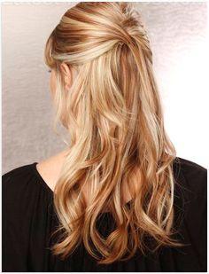 peinado semirecogido con ondas - Buscar con Google