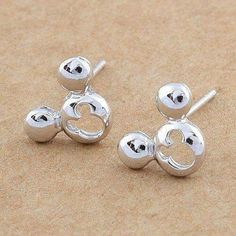 Mickey Mouse Mini Sterling Silver Stud Earrings--So fun and different! Mickey Mouse Jewelry, Disney Jewelry, Sterling Silver Earrings Studs, Stud Earrings, Pierced Earrings, Heart Piercing, Disney Purse, Walt Disney Mickey Mouse, Cute Jewelry