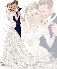 Este posibil ca imaginea să conţină: 4 persoane Cute Couple Art, Cute Couples, Wedding Dress Drawings, Love Fashion, Fashion Art, Fashion Illustration Collage, Wedding Art, Fashion Design Sketches, Designer Dresses