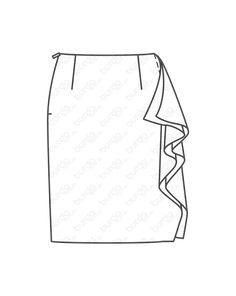 """burda style, burda style Magazin Schnitt, Volantrock - knielang 05/2013 #111, Gerader Rock mit einem Volant an der Seite. Sie brauchen: Crêpe de Chine, 145 cm breit: 0,80 – 0,85 – 0,95 – 1,05 – 1,10 m. Vlieseline G 785. 1 Nahtreißverschluss, 22 cm lang und Spezial-Nähfuß. Stoffempfehlung: Leichte, weich fallende Rockstoffe. Nur Stoffe mit zwei """"schönen"""" Seiten verwenden. Style Magazin, Fabrics"""
