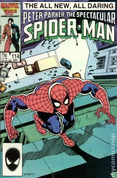 Spectacular Spider-Man (1976 1st Series) 114 Marvel Comics Peter Parker Comic book covers Super Heroes Villians Amazing Astonishing silver bronze modern age