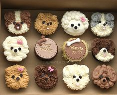 Ideas For Cupcakes Decoration Animals Sweets Puppy Birthday Cakes, Puppy Birthday Parties, Puppy Party, Dog Birthday, Birthday Ideas, Puppy Cupcakes, Puppy Cake, Animal Cupcakes, Cake Decorating Techniques