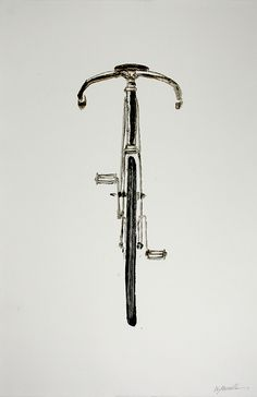 Will Manville - bike  Simply by shifting our perspective the image of a bike regroups as it were, and our understanding of scale is a little more accurate. Such a slim object really,